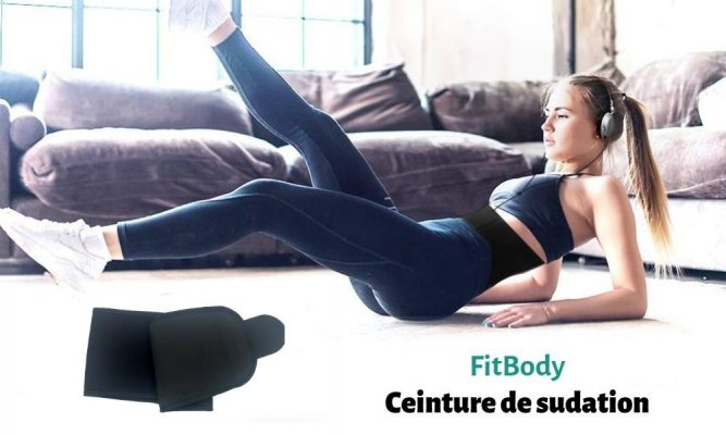 Ceinture-de-sudation-fitbody-v1-667x400 FitBody Ceinture de Sudation Néoprène avec Poche Smartphone Noir