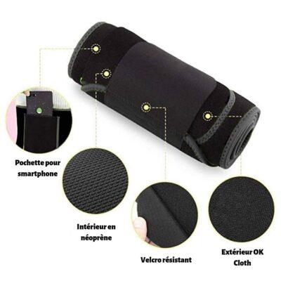 Ceinture-de-sudation-fitbody-v8-400x400 FitBody Ceinture de Sudation Néoprène avec Poche Smartphone Noir